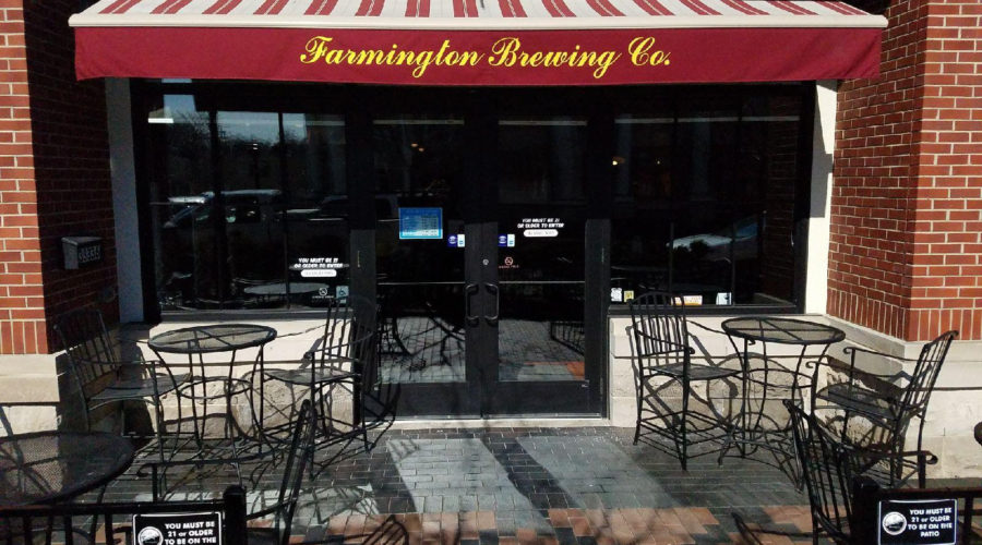 the patio at farmington brewing company