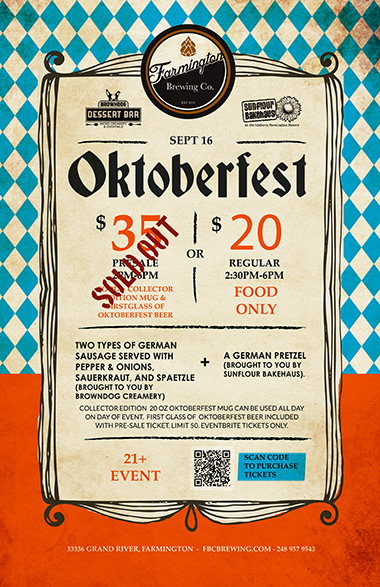 oktoberfest poster at the farmington brewing company september 16 2017