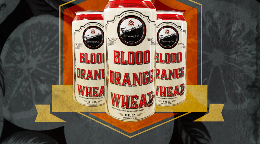 farmington brewing company poster for release of blood orange wheat cans now available fall 2017